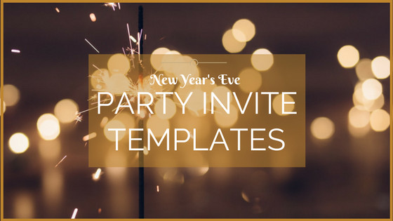 New Year Party Invitation Template Overnight Prints Blog