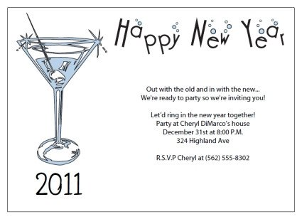 New Year Party Invitation Template Printable New Years Party Invitations