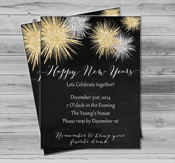 New Year Party Invitation Template Sample New Year Invitation Templates 24 Download