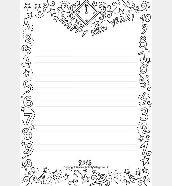 New Years Resolution Template 27 Best New Year Resolution Templates & Design Ideas for