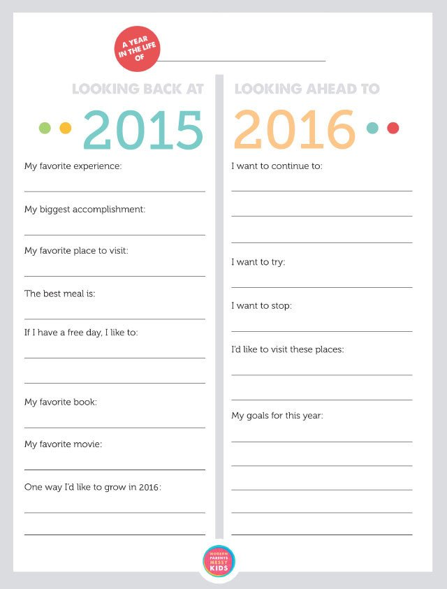 New Years Resolution Template Free Printable Family New Year S Resolutions & Year In