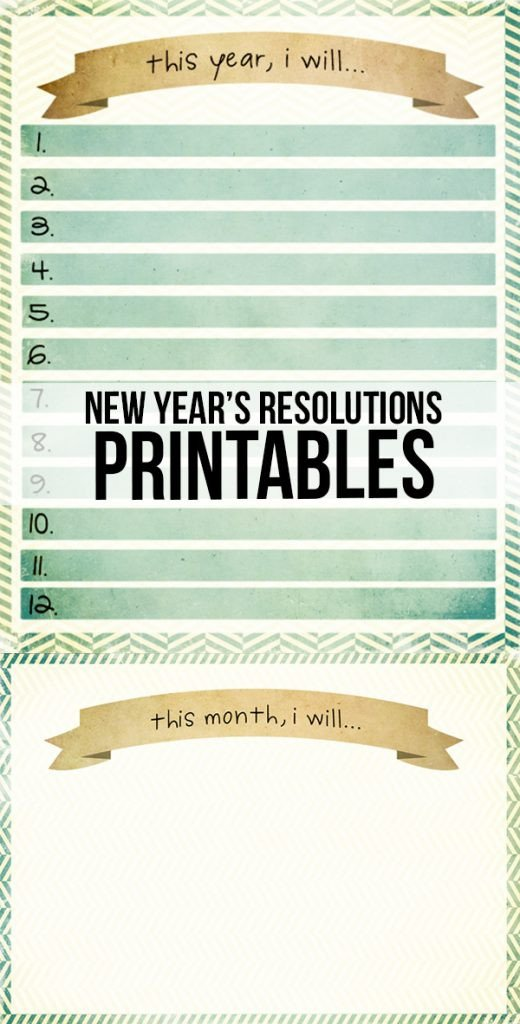 New Years Resolution Template New Year Resolutions Printable Live Laugh Rowe