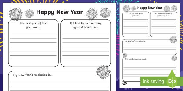 New Years Resolution Template New Year S Resolution Writing Frame Writing Frame Frame