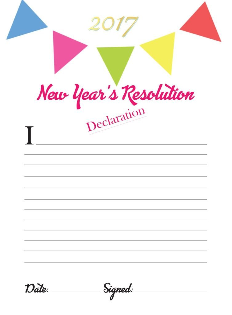New Years Resolution Template This Cute New Year S Resolution Template is Great for