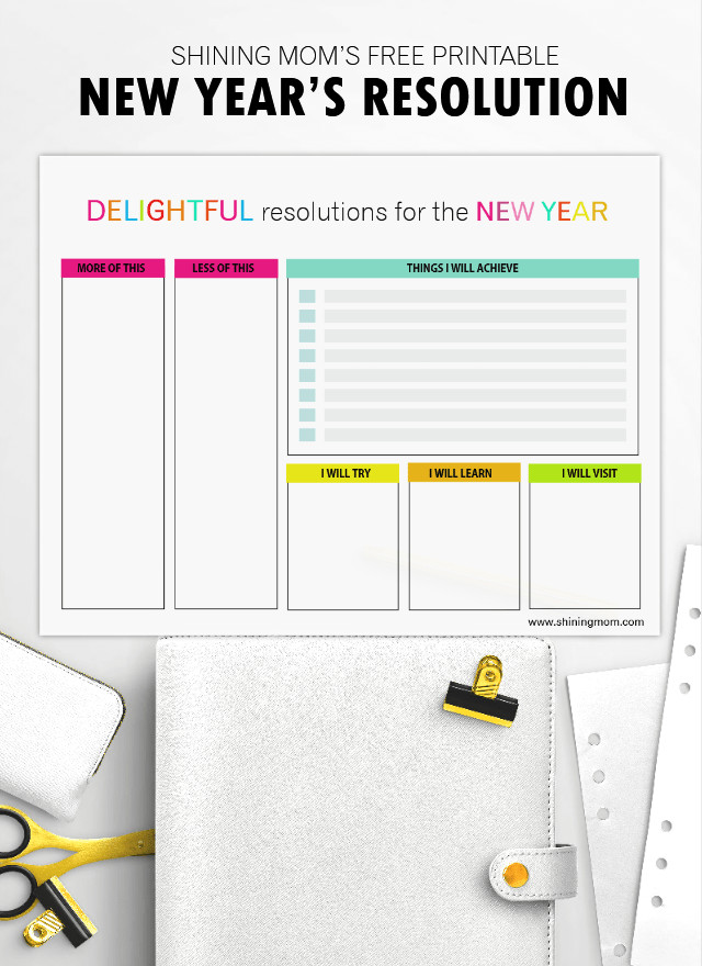 New Years Resolution Template Write Your New Year's Resolution Here