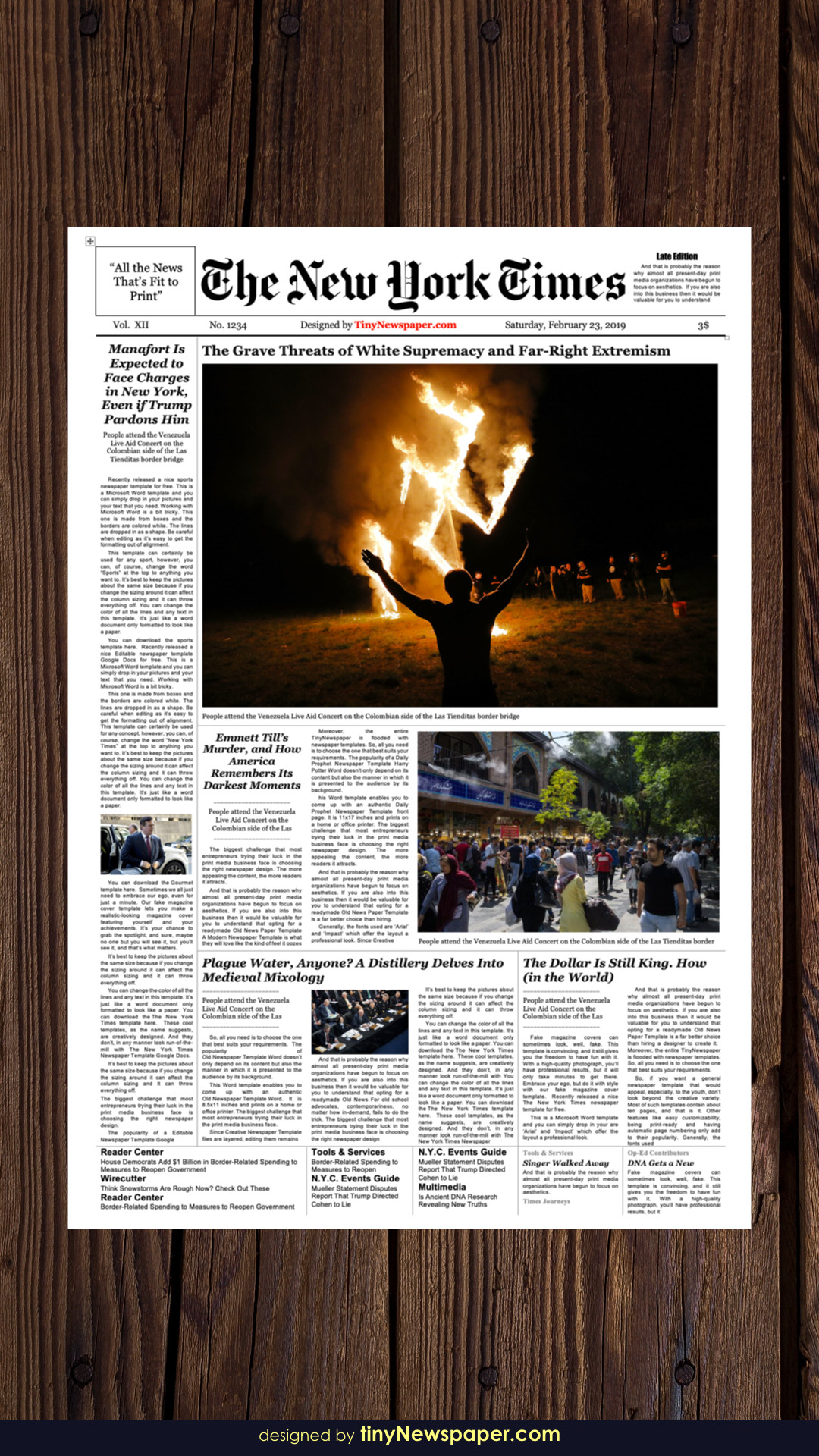 New York Times Template New York Times Newspaper Template