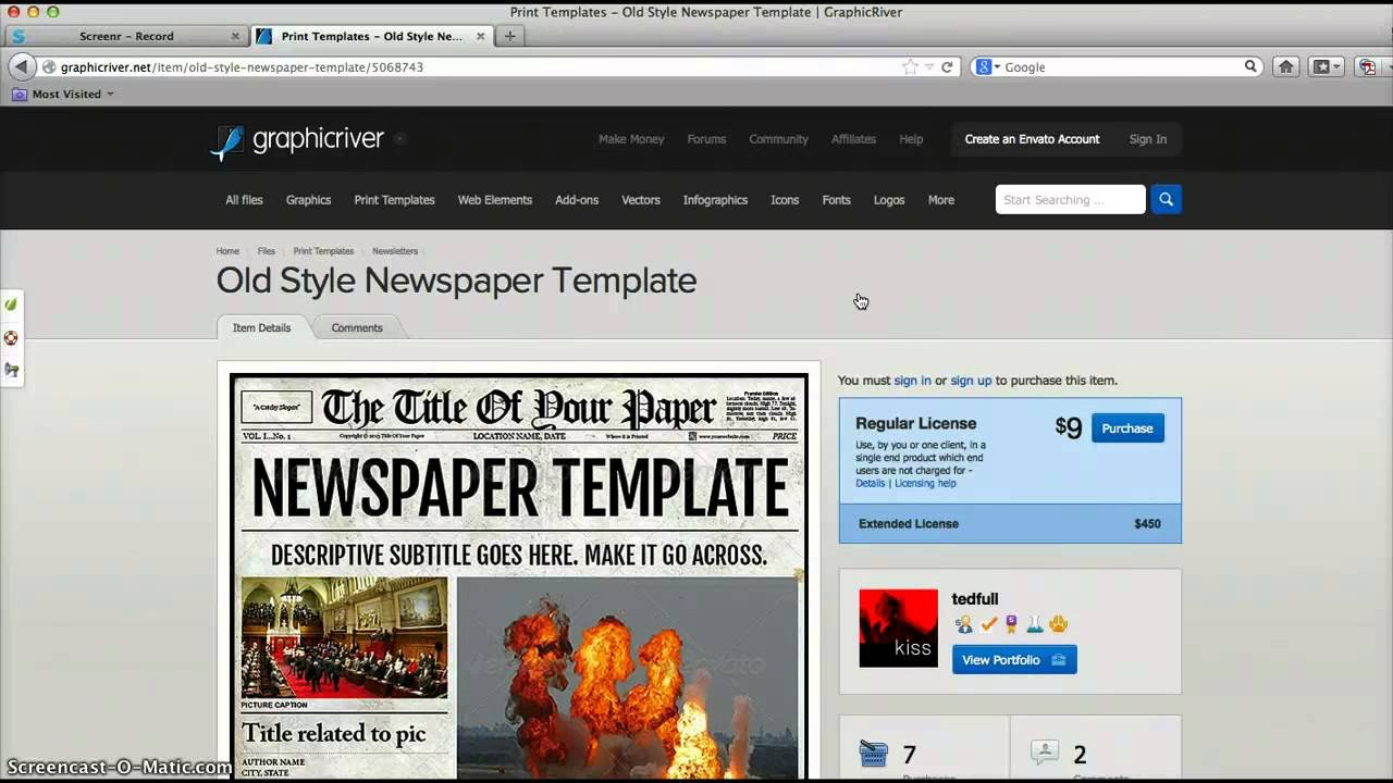 New York Times Template Newspaper Template for Adobe Indesign Cs6