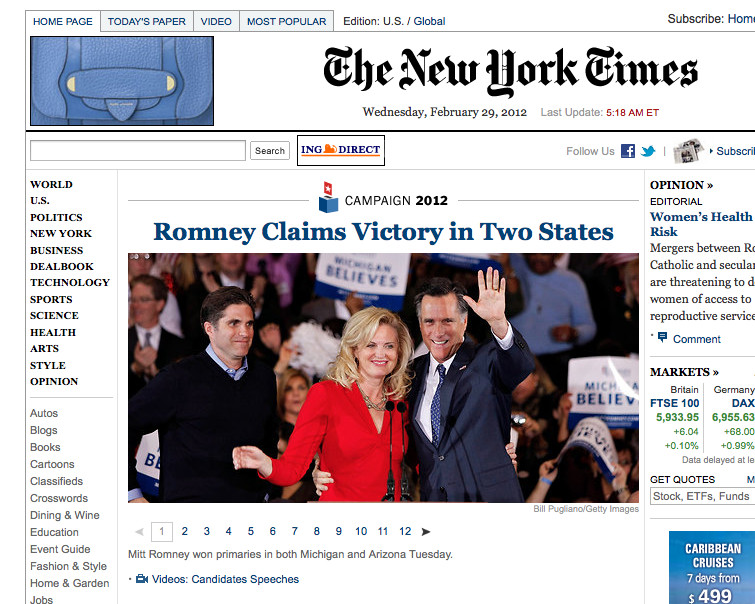 New York Times Template Template for Nytimes Homepage Gallery – Rebecca Hart