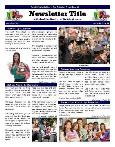 Newsletter Sample for School 7 Best School Newsletter Templates Images On Pinterest