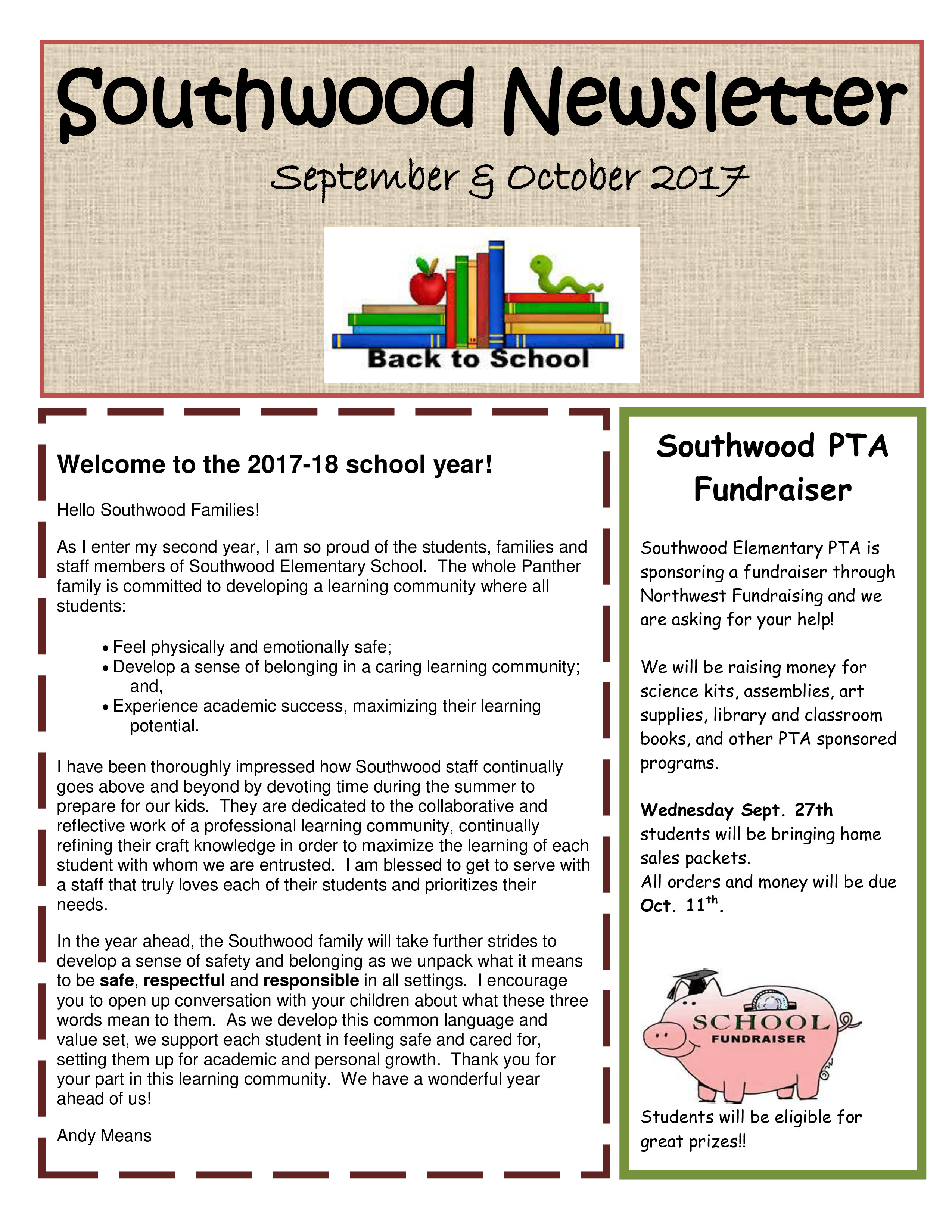 Newsletter Sample for School Education Back to School Newsletter Sample