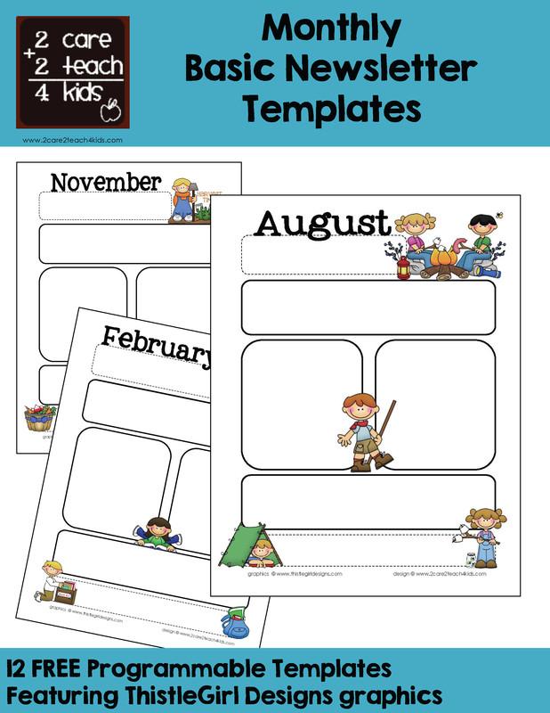 Newsletter Templates for Preschool Munication