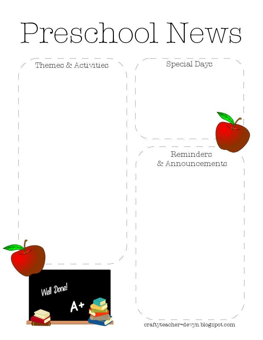 Newsletter Templates for Preschool Preschool Newsletter Quotes Quotesgram