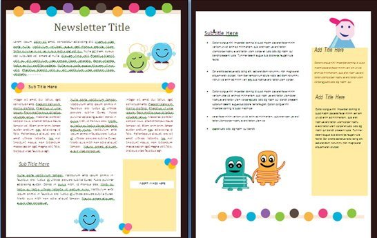 Newsletter Templates for Teachers 15 Free Microsoft Word Newsletter Templates for Teachers