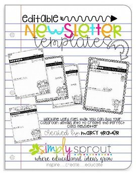 Newsletter Templates for Teachers Back to School Weekly Newsletter Templates for Teachers by