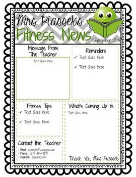 Newsletter Templates for Teachers Classroom Newsletter Template Editable Freebie by Phys Ed