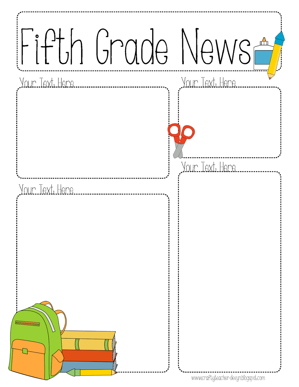 Newsletter Templates for Teachers Pletely Editable Newsletter for All Grades