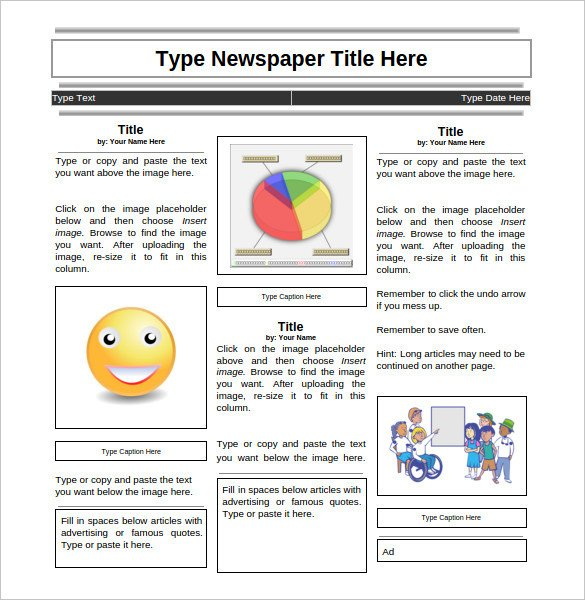 Newspaper Article Template Google Docs 11 News Paper Templates Word Pdf Psd Ppt