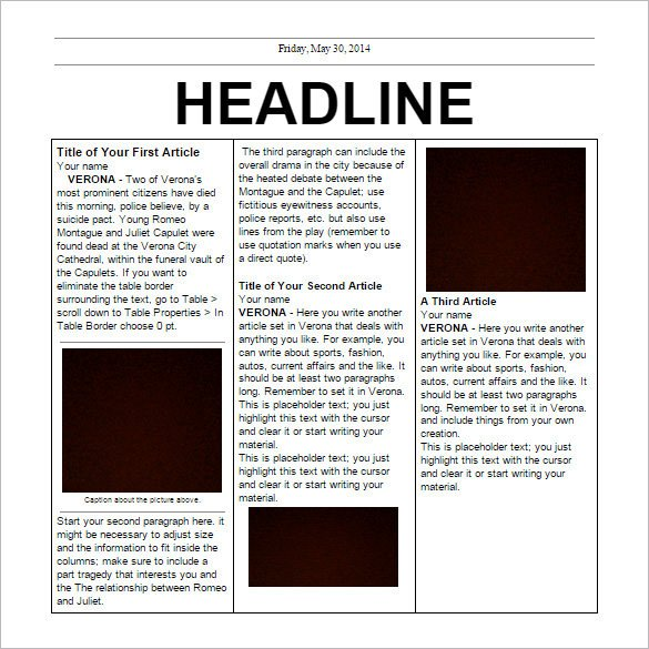 Newspaper Article Template Google Docs 17 Free Newspaper Templates Psd Doc Pdf Ppt