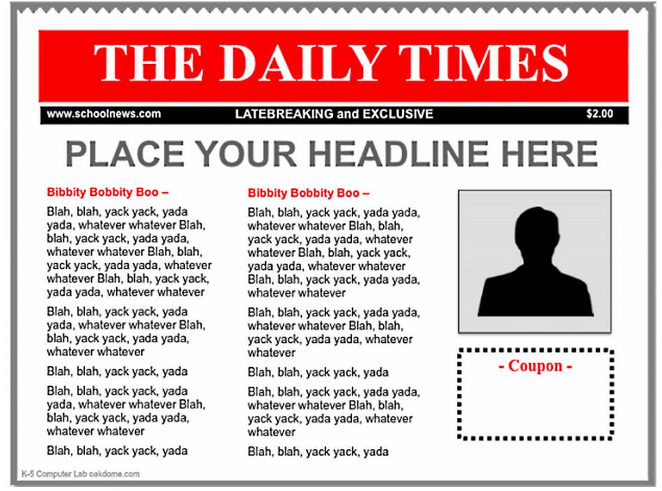 Newspaper Article Template Google Docs 3 Good Ipad Newspaper Templates for Teachers