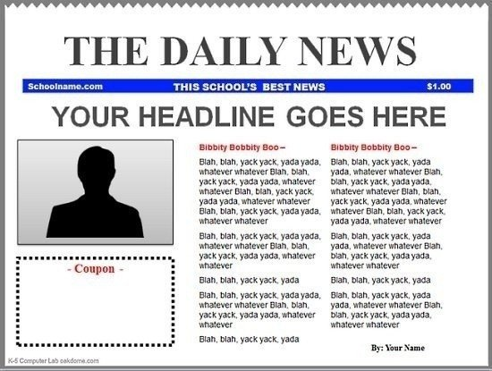 Newspaper Article Template Google Docs Blank Newspaper Template Google Docs