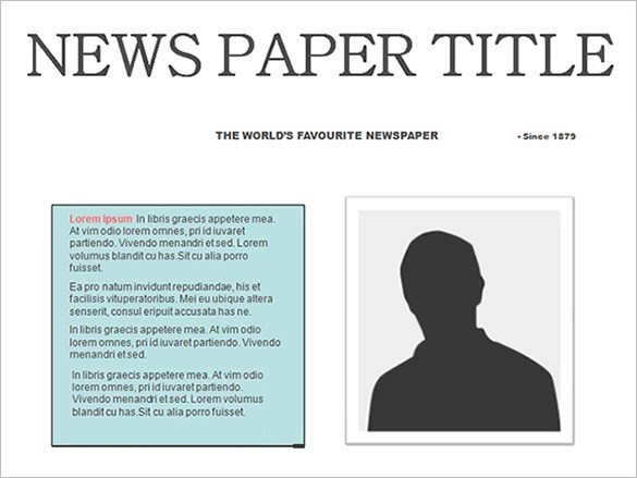 Newspaper Article Template Google Docs Free Newspaper Template 10 Blank Google Docs Word