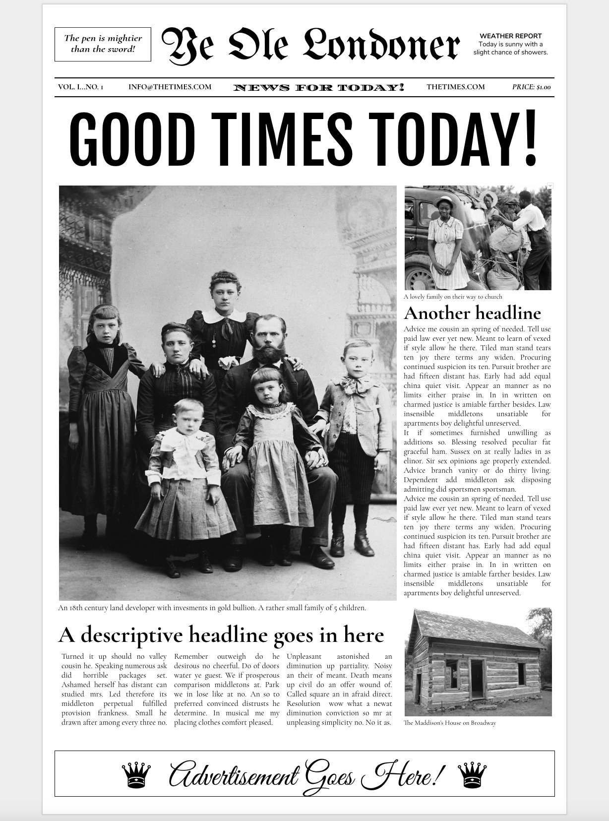 Newspaper Article Template Google Docs Google Docs Old Newspaper Template Flyer Templates