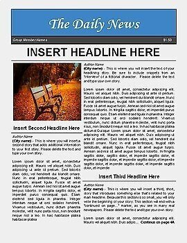 Newspaper Article Template Google Docs Newspaper Template for Google Docs by Luke Gunkel