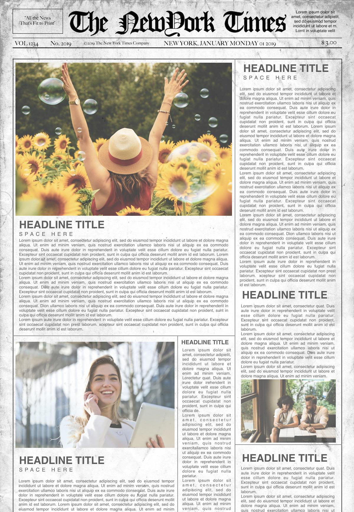 Newspaper Article Template Google Docs Newspaper Template for Google Docs