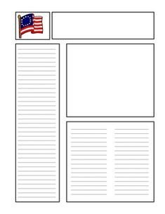 Newspaper Template for Kids 1000 Images About Book Report Templates On Pinterest