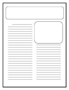Newspaper Template for Kids Free Writing Papers for Kids On Pinterest