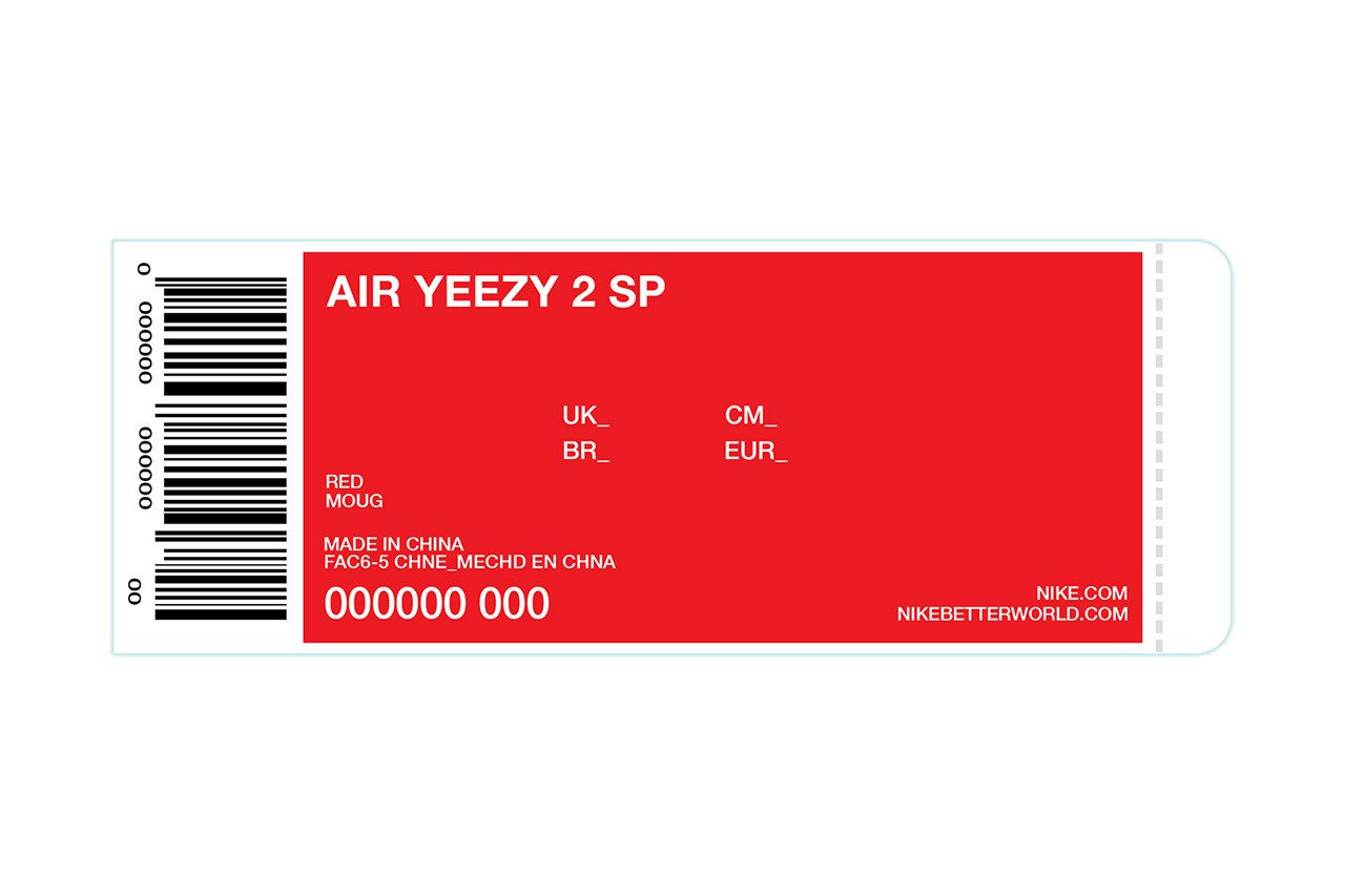 Nike Box Label Template Kanye Giving Away 50 Pairs Of Up Ing Red Nike Air Yeezy Iis