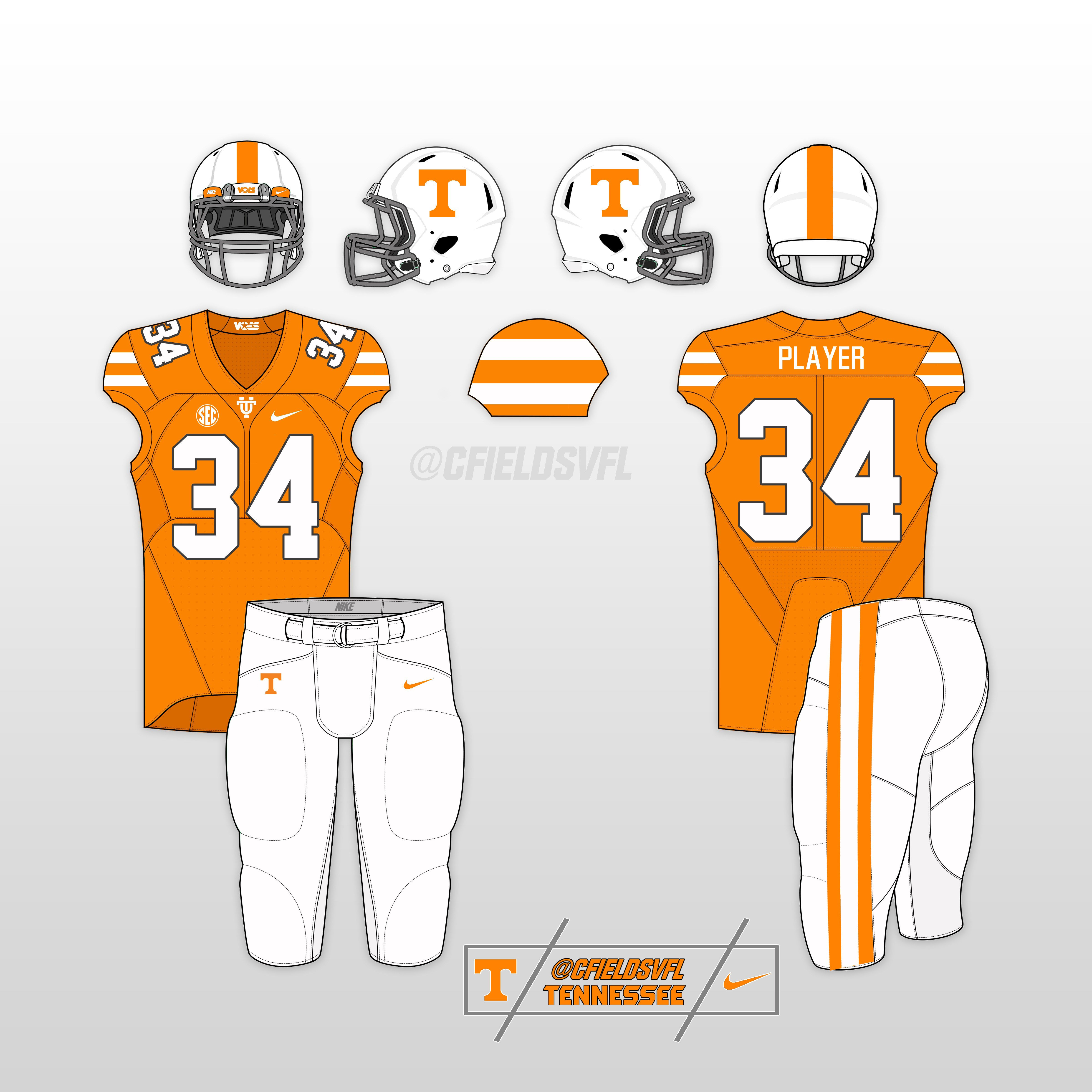 Nike Football Jersey Template Vol Alternate Uniform Options