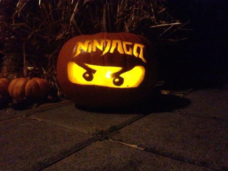 Ninjago Pumpkin Pattern Kürbis Schnitzen Halloween 2015 Lego Ninjago Pumpkin