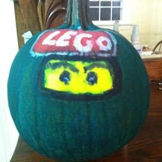 Ninjago Pumpkin Pattern My Homemade Lego Ninjago Kai Pinata I took A Halloween