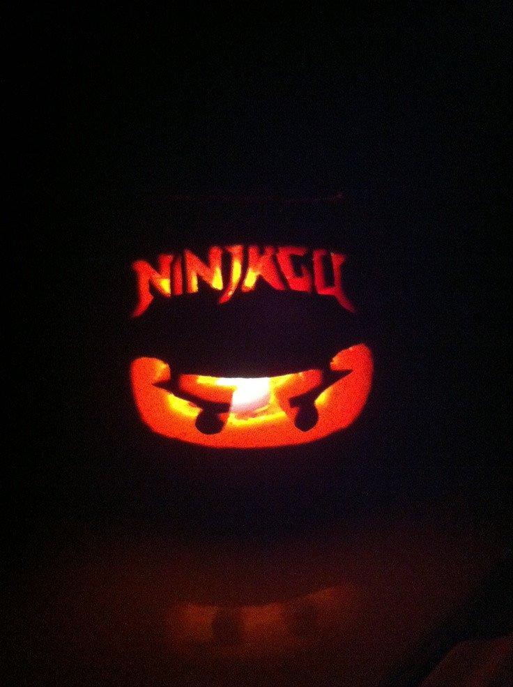 Ninjago Pumpkin Pattern Ninjago Pumpkin Carving for Kids Just Print Out Picture