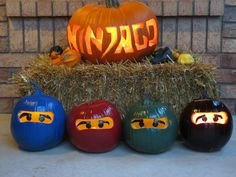 Ninjago Pumpkin Pattern Pumpkins Lego and the O Jays On Pinterest