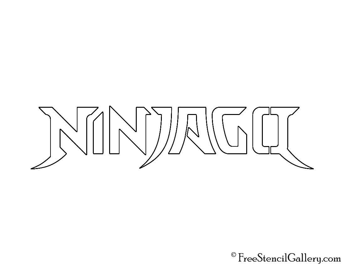 Ninjago Pumpkin Stencils Lego Ninjago Logo Stencil