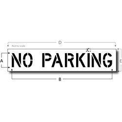 No Parking Signs Template No Parking Stencil Reusable Maxi Thick Plastic Pavement