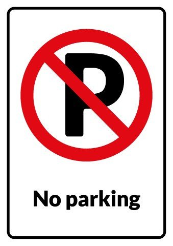 No Parking Signs Template Np Parking Signs Frompo 1