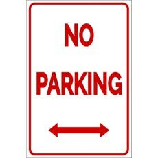 No Parking Signs Template Parking Signs