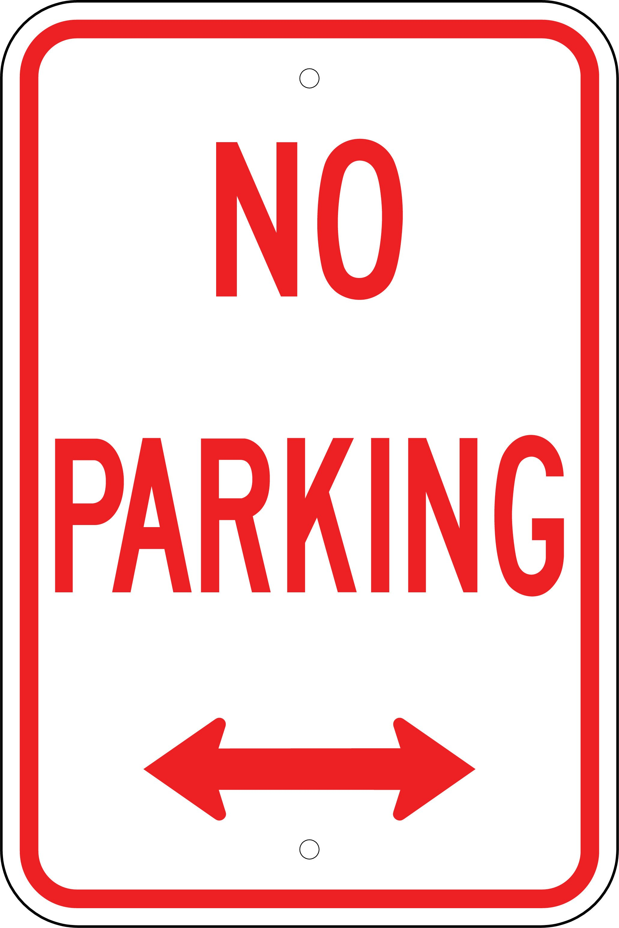No Parking Signs Template Printable No Parking Signs Free Download Clip Art