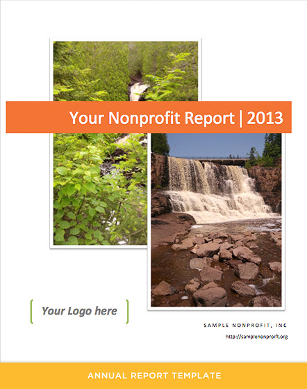 Non Profit Annual Report Template Annual Report Template for Nonprofits