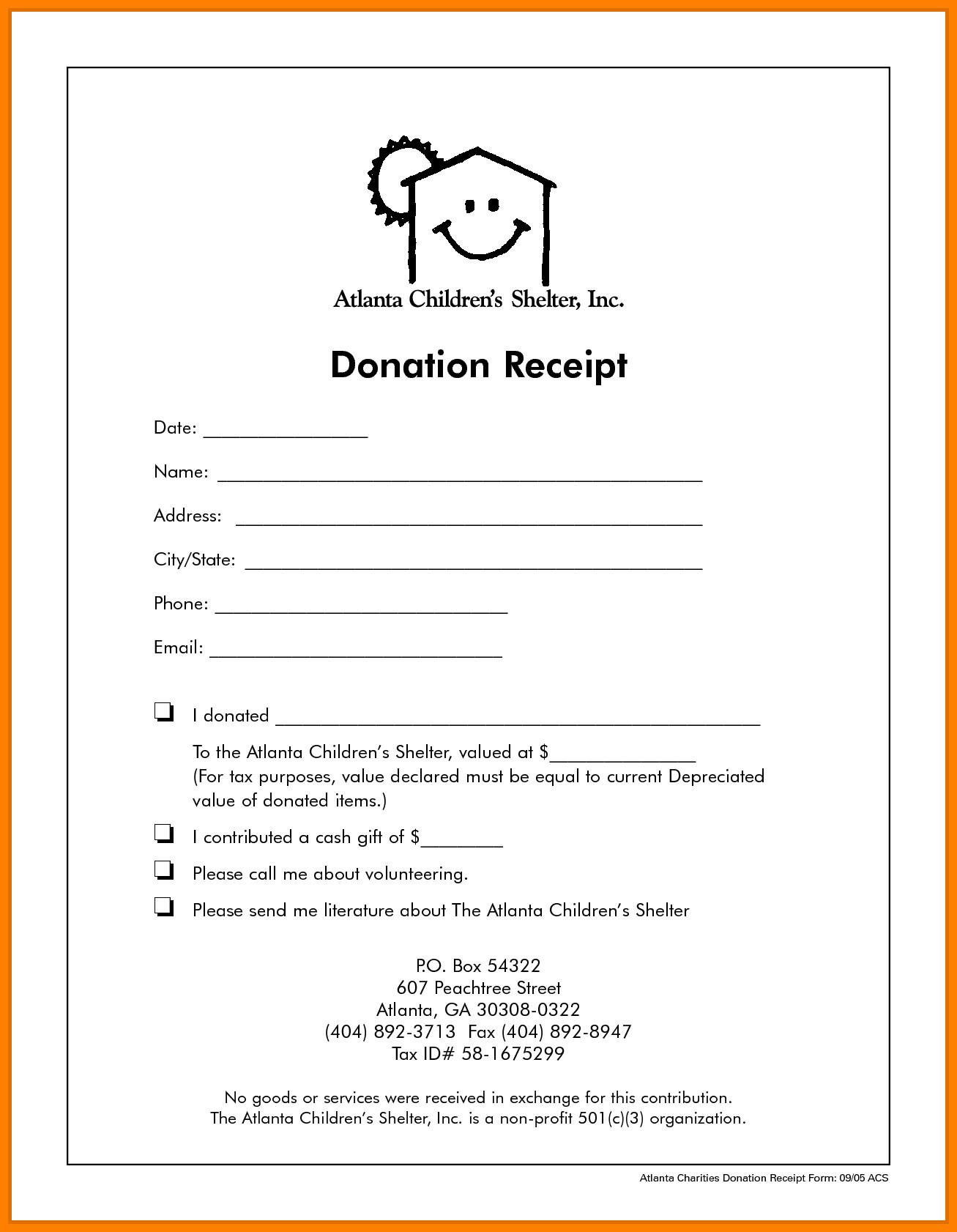 Non Profit Invoice Template 9 Non Profit Donation Receipt Template