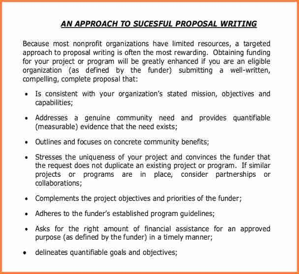 Non Profit Proposal Template 3 Non Profit Project Proposal Template