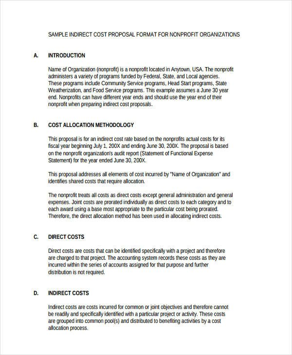 Non Profit Proposal Template 8 Non Profit Proposal Examples & Samples Doc Pdf