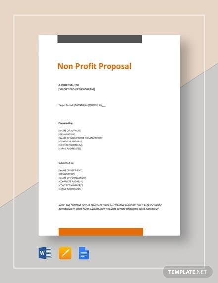 Non Profit Proposal Template Sample Non Profit Proposal Template 13 Free Documents
