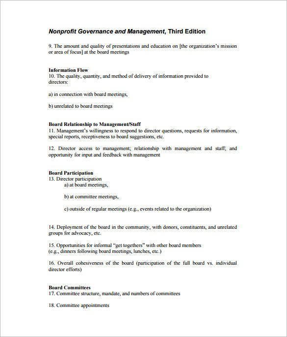 Nonprofit Board Meeting Agenda Template 6 Meeting Outline Templates Doc Pdf