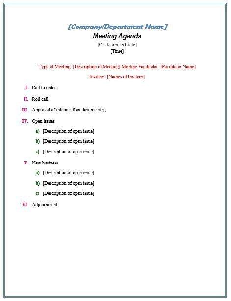 Nonprofit Board Meeting Agenda Template formal Meeting Agenda Nonprofit Ideas