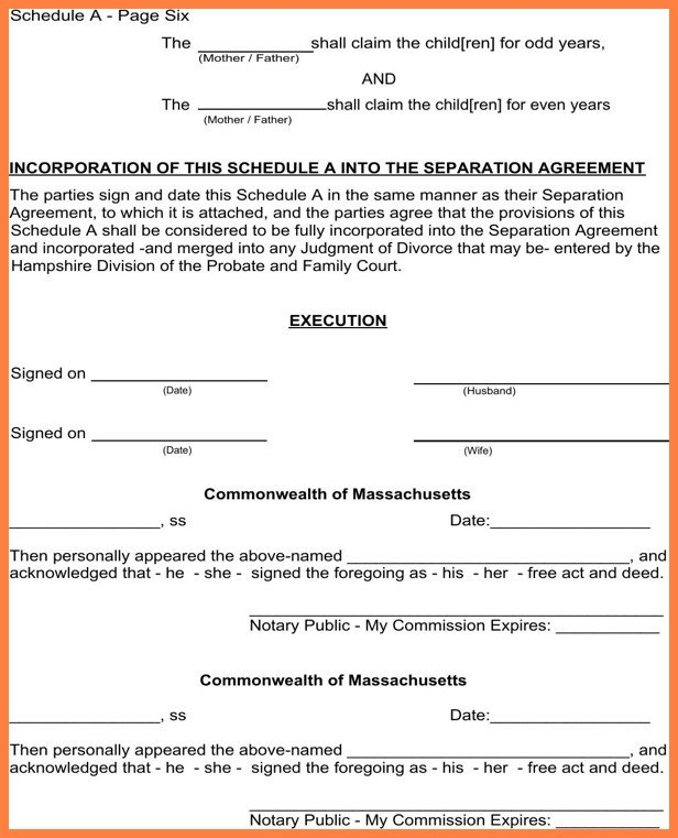 Notarized Custody Agreement Template Notarized Custody Agreement Template Ideal Notarized