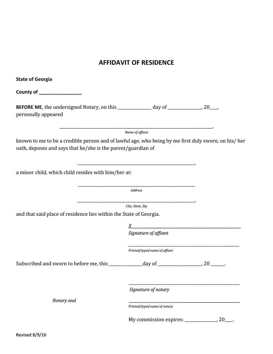 Notarized Letter Of Residency 36 Proof Residency Letters From Family Member